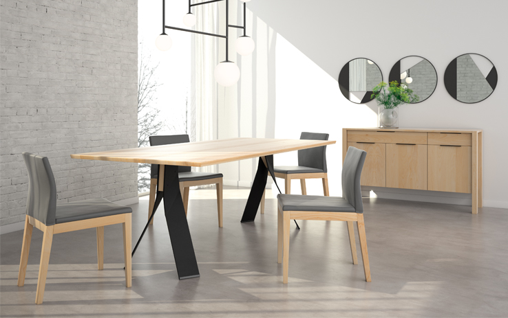 table Axel, chaise Slim et buffet Zoe